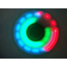 fidget spinner light up blue led light up push button switch fidget spinner stress reducer toy