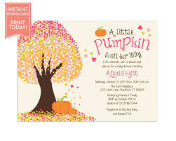 instant download baby shower invitations little pumpkin baby shower invitations fall baby shower