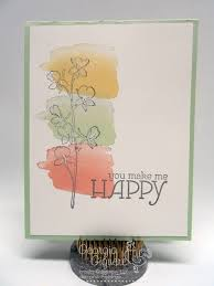 water color cards simple handmade card with happy watercolor plus a trick to flatten