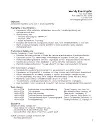 Resume Examples For Office Jobs by Administrative Desktop Publishing Resume Sample Http