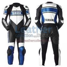motorcycle racing gear yamaha blue motorbike racing leather suit is especially designed