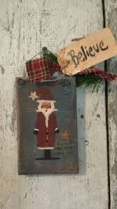 29 best primitive country painted santa u0027s images on pinterest