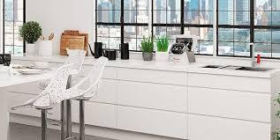 cuisine moderne blanche cuisine blanche sans poignee