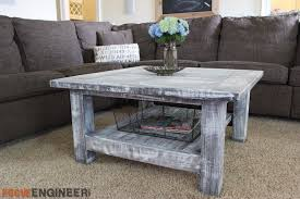 Build A End Table Plans by Square Coffee Table W Planked Top Free Diy Plans