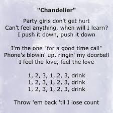 Chandeliers Song Chandelier Song Lyrics I Pinterest Chandelier Song