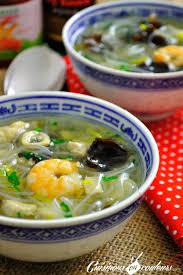 cuisine chinoise poisson soupe chinoise poissons crevettes vermicelles et plein de bonnes