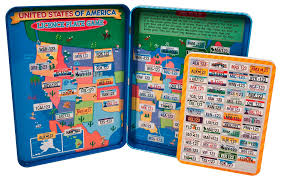 amazon com t s shure license plate game magnetic playset toys