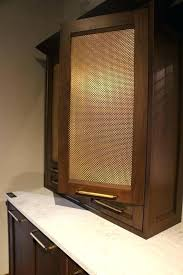 metal cabinet door inserts metal cabinet inserts two tone cabinets contemporary kitchen the