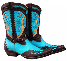 new handmade mens sky blue cowboy antique style western boots