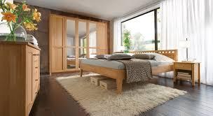 Schlafzimmer Komplett Mit Bett 140x200 Massivholzbett Aus Buche Biologisch Geölt Triest