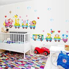 chambre cirque zs autocollant stickers muraux jungle mur décor enfants