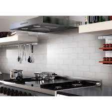 kitchen backsplash stick on tiles art3d 100 pieces peel and stick tile kitchen backsplash metal wall