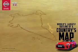 Actual World Map by Nissan Gt R Traces India In World U0027s Largest Country Map W Video