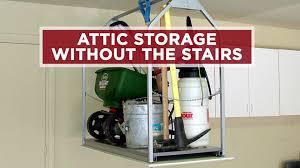 garage attic access installed video diy