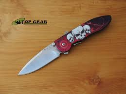 buck kitchen knives buck sirus skulls linerlock knife 297bks b