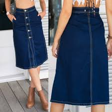 denim skirt women s high waist front button slit denim skirt agathagarcia