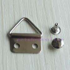 frame hanger triangle d ring picture frame hanger strap rivets cap stud snap