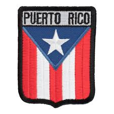 Cuba And Puerto Rico Flag Puerto Rico Flag Shield Patch Country Flag Patches