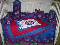 Chicago Cubs Crib Bedding New Custom Baby Crib Bedding Set Mw Chicago Cubs Fabric Ebay