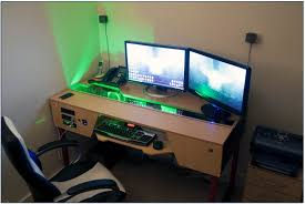 custom gaming desk build home desks ideas hash Custom Gaming Desks