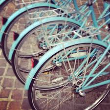 Bicycle Home Decor by Nyc Photography New York Print Bicycle Art Print Turquoise