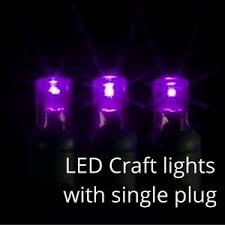 purple 5mm led craft lights green wire