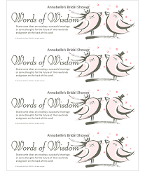 words of wisdom bridal shower bridal shower words of wisdom personalize my party