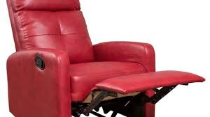 red leather recliner chair living room wingsberthouse get go red