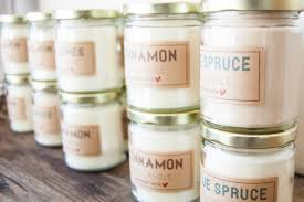 tutorial soy wax candles plus a free label printable going home