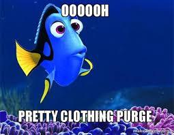 Purge Meme - oooooh pretty clothing purge make a meme