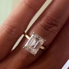 gold or silver wedding rings 25 best rectangle engagement rings ideas on