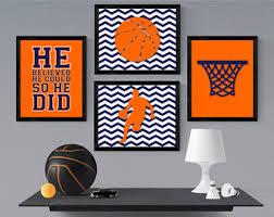Basketball Room Decor Sports Bedroom Decor Etsy