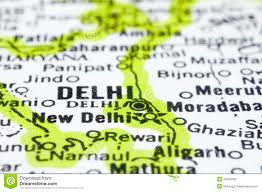 New Delhi India Map by Close Up Of Delhi On Map India Stock Photography Image 24485392