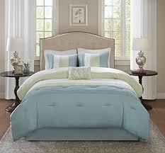 Off White Duvet Cover King Comfort Spaces U2013 Windsor Comforter Set 5 Piece U2013 Aqua Green Off