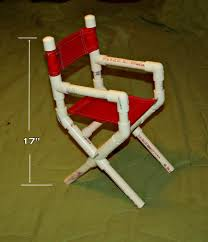 Pvc Patio Furniture Cushions - pvc pipe projects here is a little doll size directors chair i