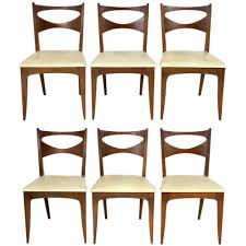 Midcentury Modern Dining Chairs Set Of Six Mid Century Modern Dining Chairs By John Van Koert For