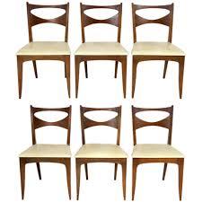 set six mid century modern dining chairs by john van koert for