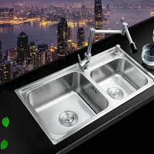 Cheap Stainless Steel Sinks Kitchen by Online Get Cheap Stainless Kitchen Sinks Double Aliexpress Com