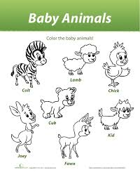 coloring pages farm animals and their babies animals at