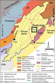 Map Of Vienna Simplified Geological Map Of The Vienna Basin Situated At The