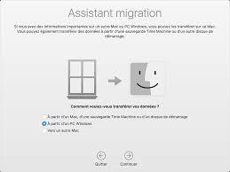 transfert de si e transférer vos données de votre pc windows à votre mac assistance