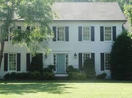 white house black shutters lt blue door for the home pinterest