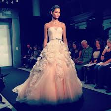 kleinfeld wedding dresses pink wedding dress on the zunino runway at kleinfeld