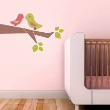 owl baby trendy peas fabric removable reusable wall decals love birds 3 colour choices