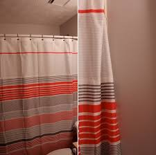 Coral And Grey Shower Curtain Coral And Gray Shower Curtains Ideas For Bathroom Best Curtains