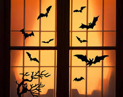halloween window etsy