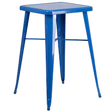 Square Bar Table Tolix Style 24