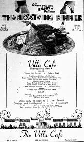 j gilberts thanksgiving menu bygone walla walla vintage images of the city and county