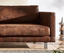 Esszimmerst Le Antik Leder 3 Sitzer Baracca 220x95 Braun Antik Optik Bauhausstil Sofa Möbel