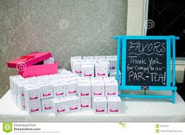 party favors for baby showers baby shower party favors d on table stock image image of chalk